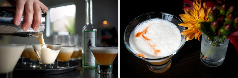 """Pine Flip"" Douglas Fir Brandy, egg white, agave, Pollux Imperial IPA"