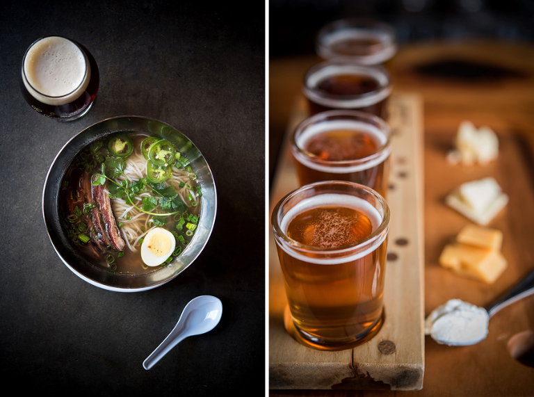 lamb belly pho; beef broth, rice noodles, smoked lamb belly, smoked pickled egg, cilantro, jalapeno